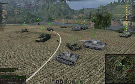 World of tanks - скриншот панарамы