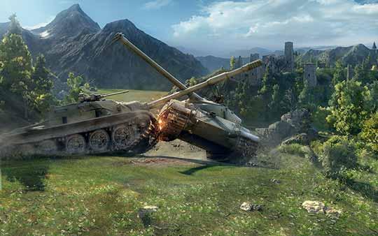 World of tanks - скриншот - взял на таран