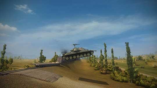 World of tanks - скриншот - прыжок