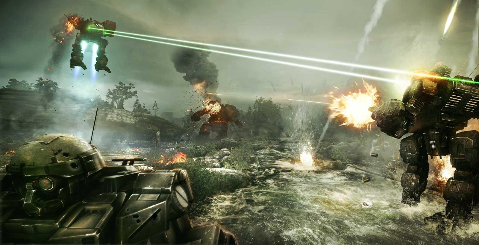 Скриншот к игре MechWarrior Online