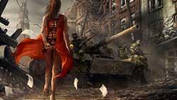 скриншоты Survarium - девушка в красном