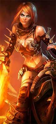 Воин огня из браузерной ММОРПГ
