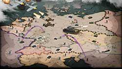 Call of War - карта с позициями