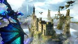 icarus - скриншот игры - парящий город в небесах