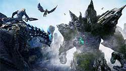 icarus - скриншот игры - битва на маунтах
