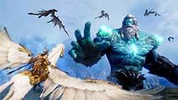 icarus - скриншот игры - атака маунтов
